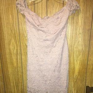 Mauve lace dress